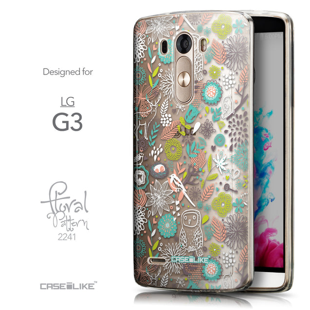 Front & Side View - CASEiLIKE LG G3 back cover Spring Forest White 2241