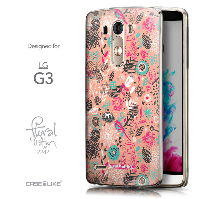 Front & Side View - CASEiLIKE LG G3 back cover Spring Forest Pink 2242