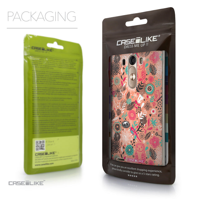 Packaging - CASEiLIKE LG G3 back cover Spring Forest Pink 2242