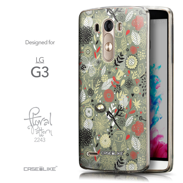 Front & Side View - CASEiLIKE LG G3 back cover Spring Forest Gray 2243