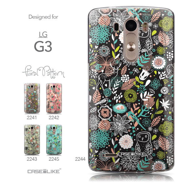 Collection - CASEiLIKE LG G3 back cover Spring Forest Black 2244