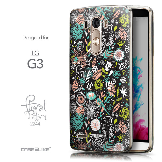 Front & Side View - CASEiLIKE LG G3 back cover Spring Forest Black 2244