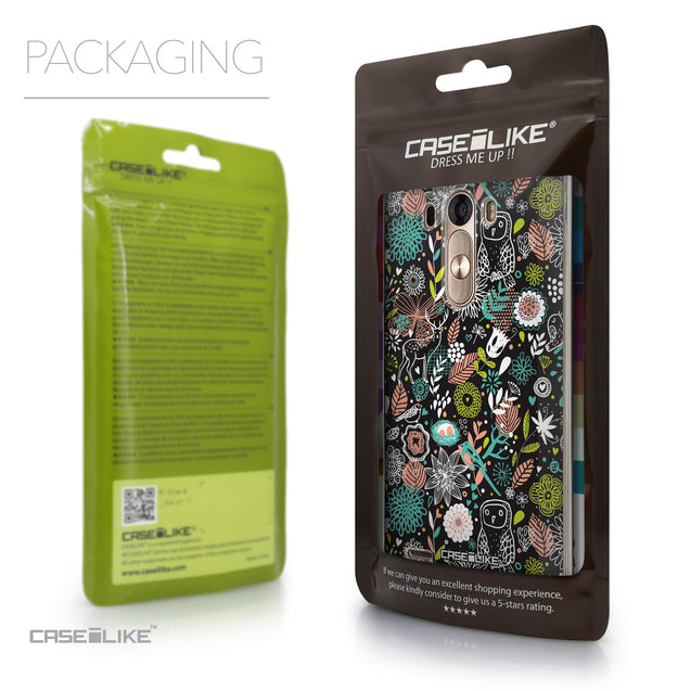 Packaging - CASEiLIKE LG G3 back cover Spring Forest Black 2244