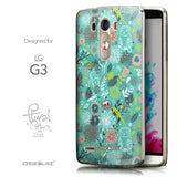 Front & Side View - CASEiLIKE LG G3 back cover Spring Forest Turquoise 2245