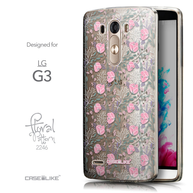 Front & Side View - CASEiLIKE LG G3 back cover Flowers Herbs 2246