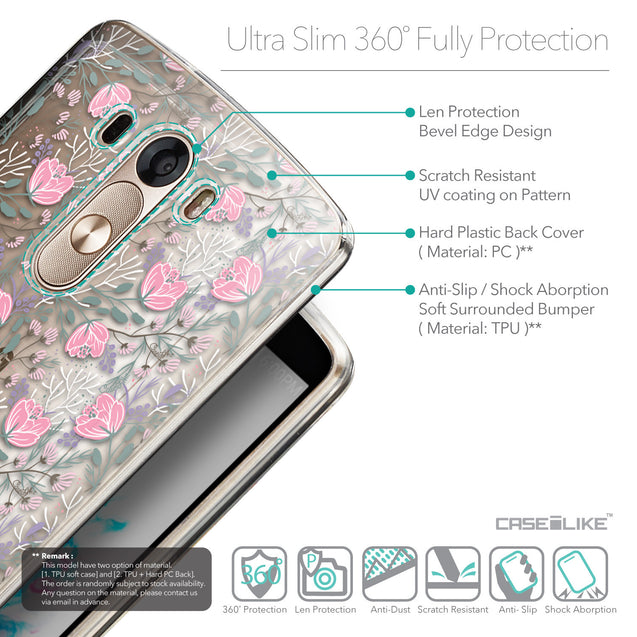Details in English - CASEiLIKE LG G3 back cover Flowers Herbs 2246