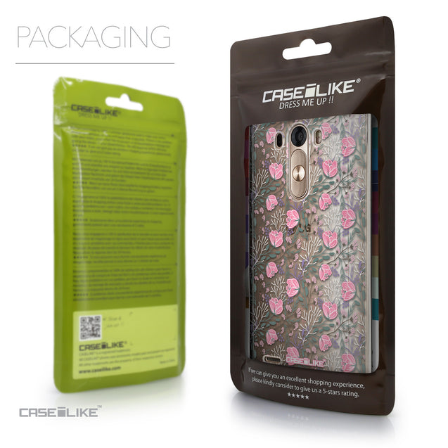Packaging - CASEiLIKE LG G3 back cover Flowers Herbs 2246