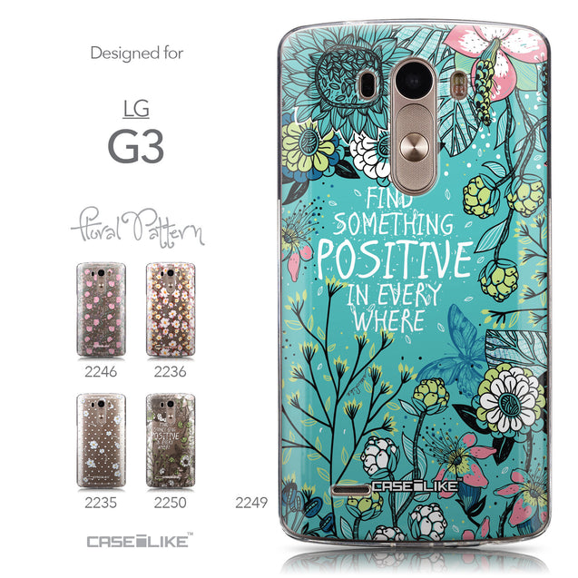 Collection - CASEiLIKE LG G3 back cover Blooming Flowers Turquoise 2249