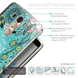 Details in English - CASEiLIKE LG G3 back cover Blooming Flowers Turquoise 2249