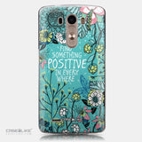 CASEiLIKE LG G3 back cover Blooming Flowers Turquoise 2249