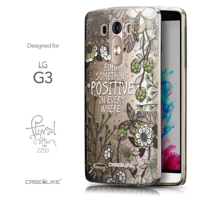 Front & Side View - CASEiLIKE LG G3 back cover Blooming Flowers 2250