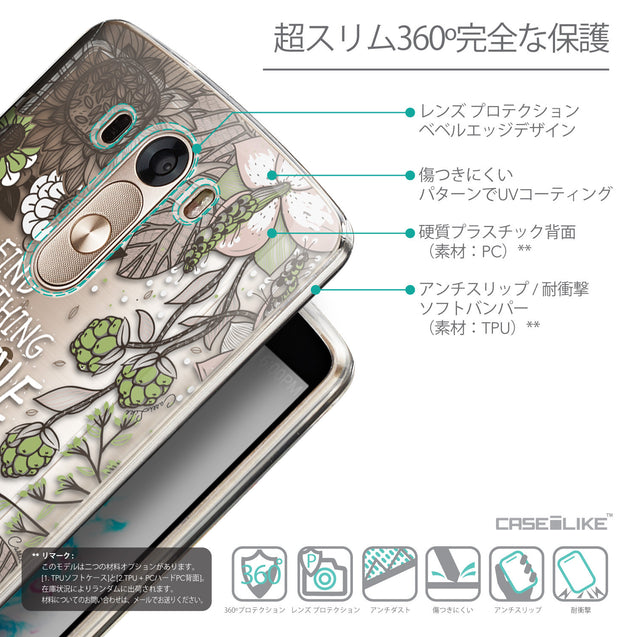 Details in Japanese - CASEiLIKE LG G3 back cover Blooming Flowers 2250