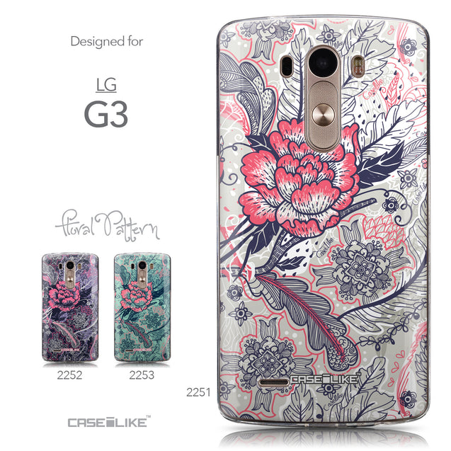 Collection - CASEiLIKE LG G3 back cover Vintage Roses and Feathers Beige 2251
