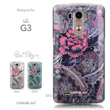 Collection - CASEiLIKE LG G3 back cover Vintage Roses and Feathers Blue 2252