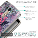 Details in Japanese - CASEiLIKE LG G3 back cover Vintage Roses and Feathers Blue 2252