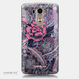 CASEiLIKE LG G3 back cover Vintage Roses and Feathers Blue 2252