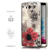 Front & Side View - CASEiLIKE LG G3 back cover Japanese Floral 2254