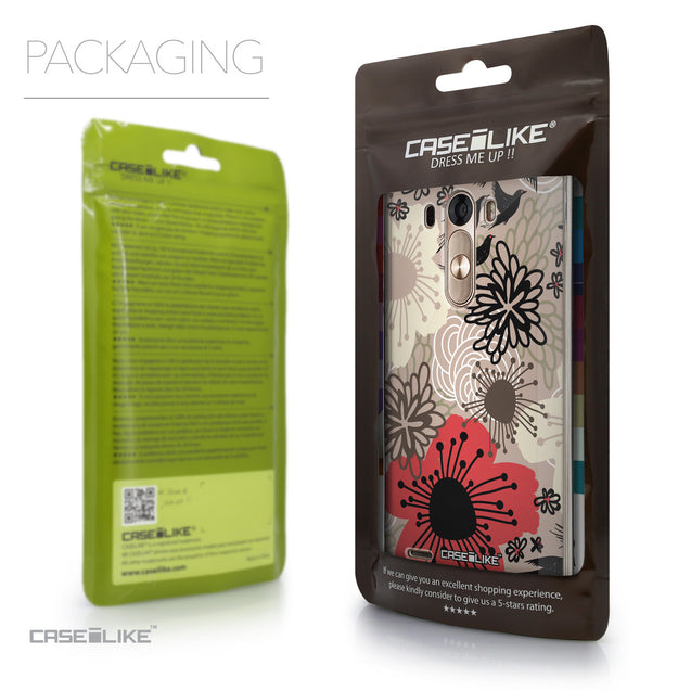 Packaging - CASEiLIKE LG G3 back cover Japanese Floral 2254
