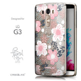 Front & Side View - CASEiLIKE LG G3 back cover Japanese Floral 2255