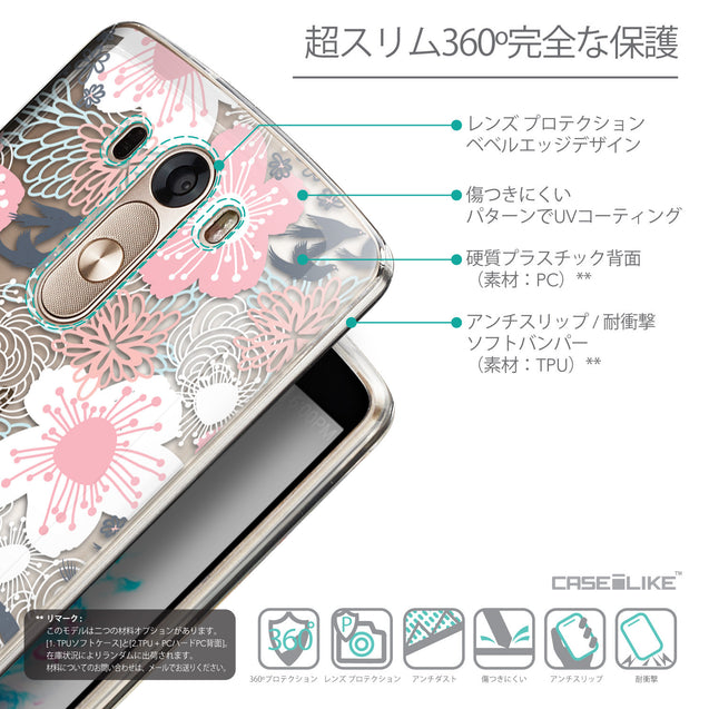 Details in Japanese - CASEiLIKE LG G3 back cover Japanese Floral 2255