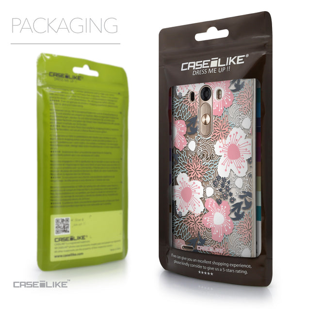 Packaging - CASEiLIKE LG G3 back cover Japanese Floral 2255