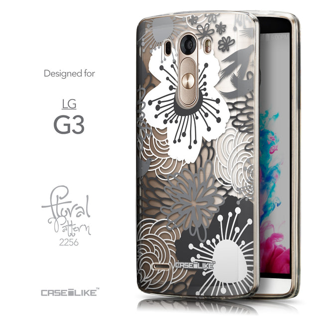 Front & Side View - CASEiLIKE LG G3 back cover Japanese Floral 2256