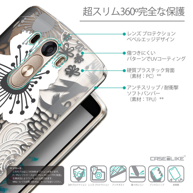 Details in Japanese - CASEiLIKE LG G3 back cover Japanese Floral 2256