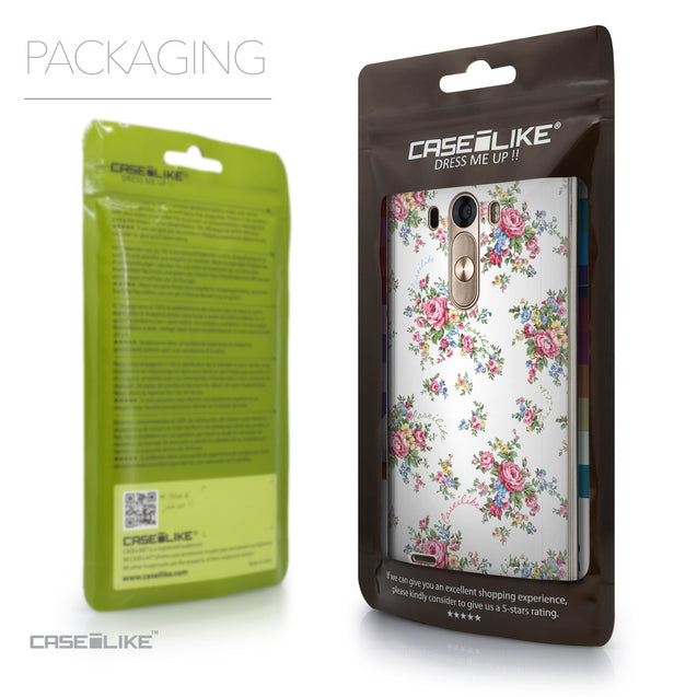 Packaging - CASEiLIKE LG G3 back cover Floral Rose Classic 2260