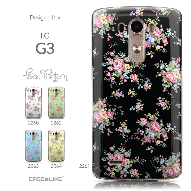 Collection - CASEiLIKE LG G3 back cover Floral Rose Classic 2261