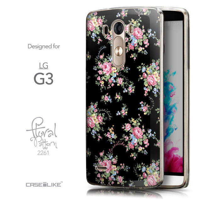 Front & Side View - CASEiLIKE LG G3 back cover Floral Rose Classic 2261