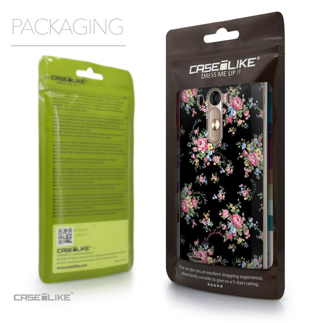 Packaging - CASEiLIKE LG G3 back cover Floral Rose Classic 2261