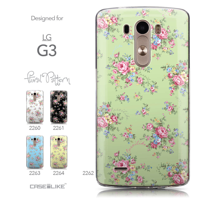 Collection - CASEiLIKE LG G3 back cover Floral Rose Classic 2262