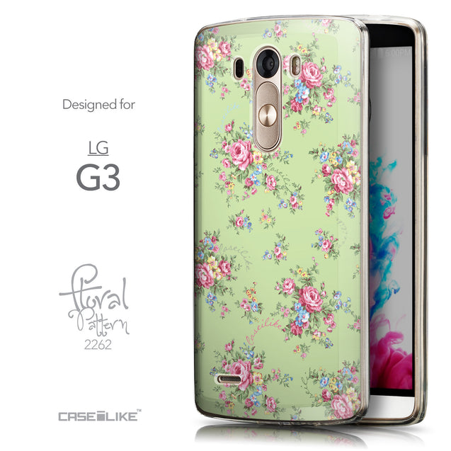 Front & Side View - CASEiLIKE LG G3 back cover Floral Rose Classic 2262