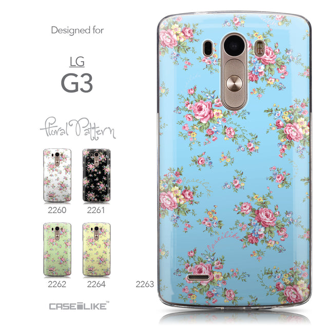 Collection - CASEiLIKE LG G3 back cover Floral Rose Classic 2263