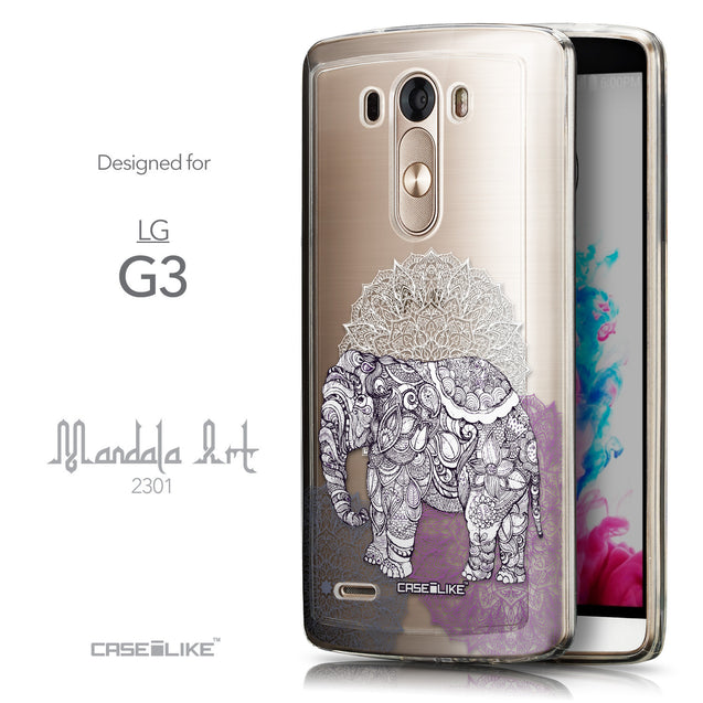 Front & Side View - CASEiLIKE LG G3 back cover Mandala Art 2301