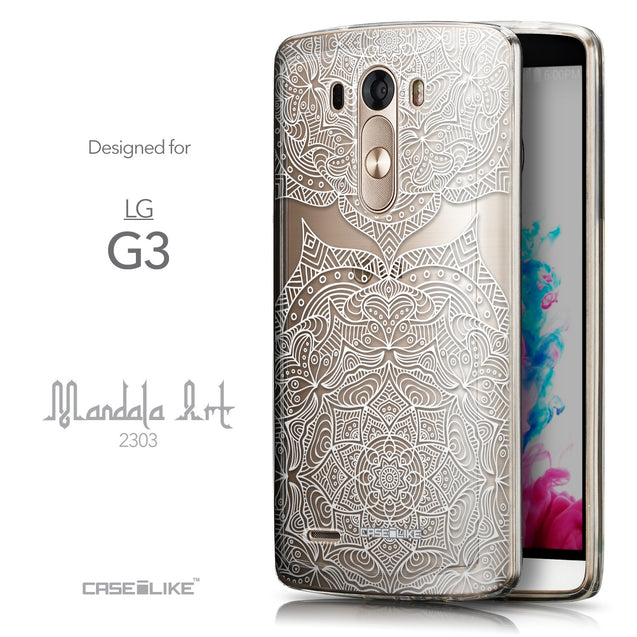 Front & Side View - CASEiLIKE LG G3 back cover Mandala Art 2303