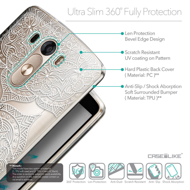 Details in English - CASEiLIKE LG G3 back cover Mandala Art 2303