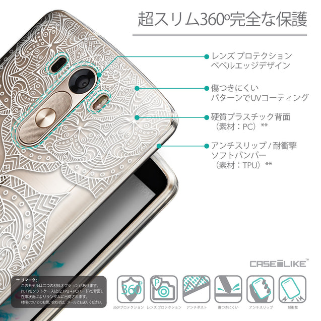 Details in Japanese - CASEiLIKE LG G3 back cover Mandala Art 2303