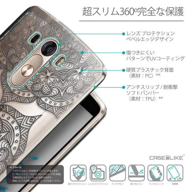 Details in Japanese - CASEiLIKE LG G3 back cover Mandala Art 2304