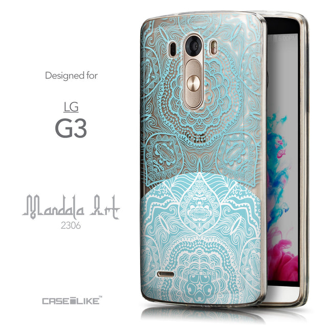 Front & Side View - CASEiLIKE LG G3 back cover Mandala Art 2306