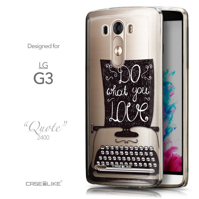 Front & Side View - CASEiLIKE LG G3 back cover Quote 2400