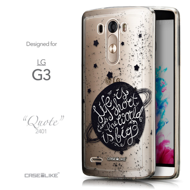 Front & Side View - CASEiLIKE LG G3 back cover Quote 2401