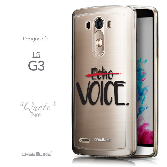 Front & Side View - CASEiLIKE LG G3 back cover Quote 2405