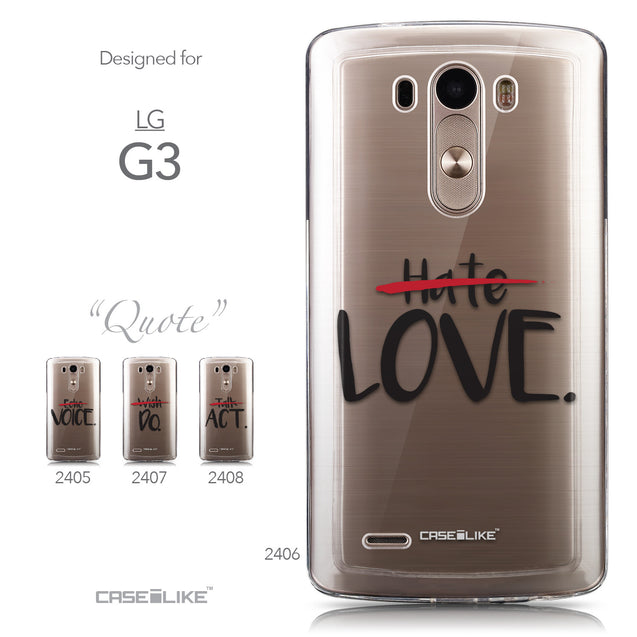 Collection - CASEiLIKE LG G3 back cover Quote 2406