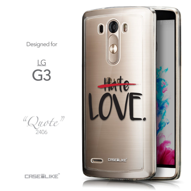Front & Side View - CASEiLIKE LG G3 back cover Quote 2406