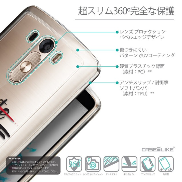 Details in Japanese - CASEiLIKE LG G3 back cover Quote 2406