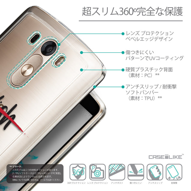 Details in Japanese - CASEiLIKE LG G3 back cover Quote 2407