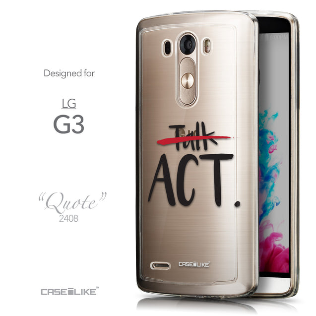 Front & Side View - CASEiLIKE LG G3 back cover Quote 2408