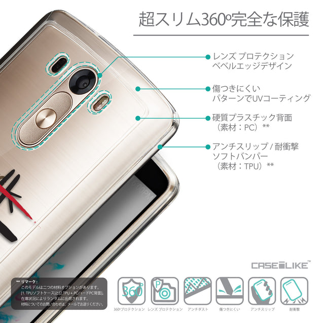 Details in Japanese - CASEiLIKE LG G3 back cover Quote 2408