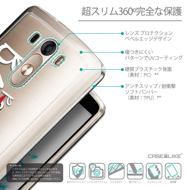 Details in Japanese - CASEiLIKE LG G3 back cover Quote 2410